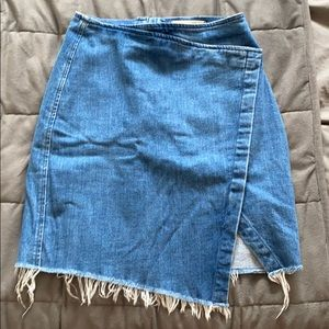 Madewell mini denim skirt